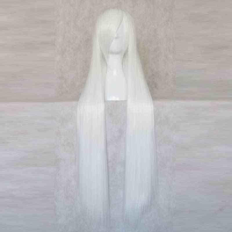 100cm White Straight Cosplay Wig Haku Cosplay Wig