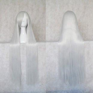Rozen Maiden Cosplay Wig 100cm Silver Mercury Lamp cos Wig