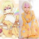 Magical Girl Raising Project Cosplay Costume Nemurin Pajamas Sleepwear Coat Nightdress Nightgown