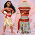 Moana Princess Cosplay Costumes Hawaii Maui style Women Sexy Savage Tops and skirts Kids Clothes