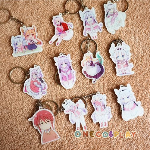 Kobayashi-san Chi no Maid Dragon Cosplay Key Chains Kanna Tooru Keychains Charm Pendants