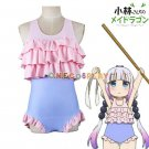 Kobayashi-san Chi no Maid Dragon Cosplay Costume Kanna Swimwear Sukumizu Bathing Suit