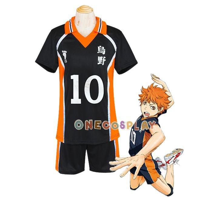 Haikyuu Hinata Syouyou Cosplay Karasuno High School Uniform Jersey Volleyball Number 10 Costume