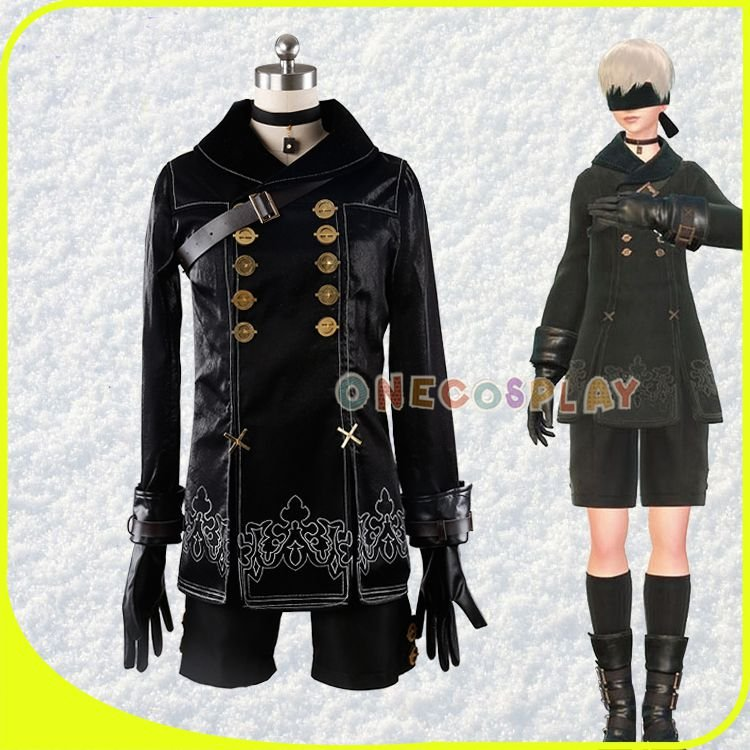 Hot Games NieR Automata 9S Cosplay Costumes Men Fancy Party Outfits Coat YoRHa No. 9 Type S Full Set