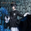 Black Butler Ciel Phantomhive Cosplay Cotumes Kuroshitsuji Halloween Fancy Party Trailing Dress
