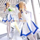 Fate/stay night Cosplay Costume Fate/Zero Saber Lily Cosplay Costume The BlueLily Dress
