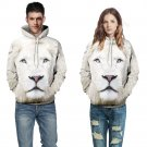 Fashion Lifelike White Lion Hoodies Men Harajuku Sweatshirt Casual Animal Hoodies Clothes
