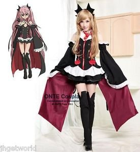 Anime Seraph of the end Cosplay Costumes Krul Tepes Women Uniform Dress Outfit