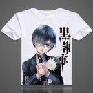 Black Butler Ciel Phantomhive Funny T-shirts Sebastian Short-Sleeve Tops Tees