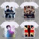 Movie Sherlock Holmes Print O-Neck Short Sleeve T-shirts John H Watson Tops Tees