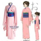 GINTAMA Cosplay Costumes Shimura Tae Kimono Women Halloween Fancy Party Outfits