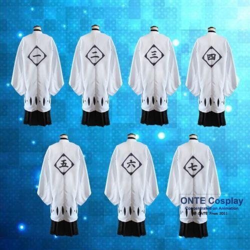 Bleach Cosplay Costumes 0 Blank 1st to13th Division Captain Cloaks Have Sleeve