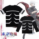 Tokyo Ghoul Cosplay Costumes Kaneki Ken short sleeve T-Shirts Fancy Tops Unisex Tees