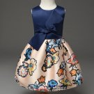 Kids Dresses Girls Summer Party Children Clothing Belt Flower Bowtie Foral Dress