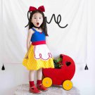 2017 Children's Snow White cos skirt Baby girls summer cotton dress harness princess  overalls dress