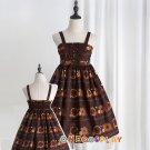 Doughnut Biscuit Cute Party Clothes Princess Sweet JSK Dress Elastic Spaghetti Strap Lolita Dress