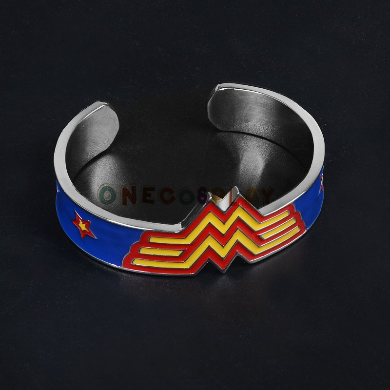 Movie Wonder Woman Metal Bangle Bracelet High Quality Fashion Bangles Christmas