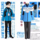 4 in 1 set (in stock) S M L XL Anime YURI on ICE Cosplay Costumes Katsuki Yuri Sport Suit Full Set