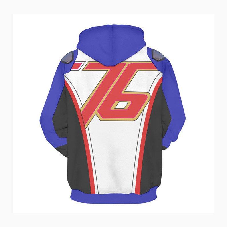 D.VA DVA Cosplay Coat Hoody Daily Sweatshirts Soldier 76 Printed Outfit Hoodies