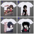Japan Anime Another T-shirts Misaki Mei Printed Fancy T Shirt Short Sleeve Tees O-Neck Tops