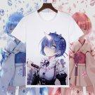 Re:Zero kara Hajimeru Isekai Seikatsu Emilia Printed T-shirts Rem Ram Short Sleeve Tees Summer Tops