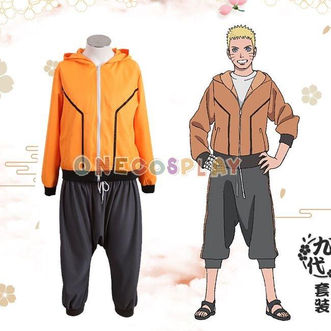 Uzumaki Naruto 9th Cosplay Costumes BORUTO -NARUTO THE MOVIE Cos Clothes Halloween Ninja Clothes