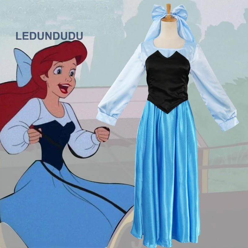 Fairy Tales The Little Mermaid Ariel Cosplay Dress Adult Women Fancy Costumes for Halloween
