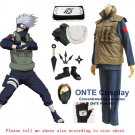 Naruto Hatake Kakashi Cosplay Costumes Fancy Halloween Party Uniform + Shoes  Accessories Set