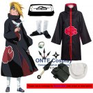 Naruto Cosplay Costumes Akatsuki Deidara Cloaks Halloween Party Weapons Shoes