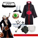 Naruto Cosplay Costumes Akatsuki Hidan Cloaks Halloween Party Weapons Shoes