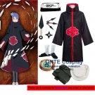 Naruto Cosplay Costumes Akatsuki Konan Cloaks Halloween Party Weapons Shoes