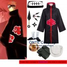 Naruto Cosplay Costumes Akatsuki Pein Cloaks Halloween Party Weapons Shoes