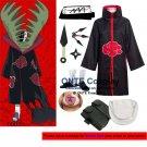 Naruto Cosplay Costumes Akatsuki Zetsu Cloaks Halloween Party Weapons Shoes