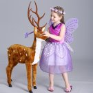 Kids Fairy Tale Girls Purple Princess Dress Baby Ocasion Party Ball gown Costumes Cosplay Dress