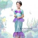 Baby Girls Little Mermaid Princess Dresses Kids Summer Cosplay costumes Fancy Dress