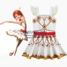 Children's White Print Dress Movie Ballerina Cosplay Costume Kid Baby Girl Sleeveless Dress