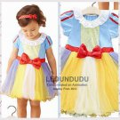 Summer Children's Dress Snow White Cosplay Costume Kid Baby Girl  Halloween Party Dress