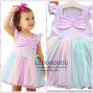 Purple Pink Princess Dress Kids Baby Girl Halloween Party Dress Children's Summer Clothes