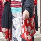 Blue and White Yukata Kimono Rental