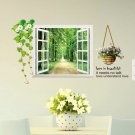 window flower wall home sticker