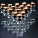 10pcs clear 16*35mm wishing glass bottles