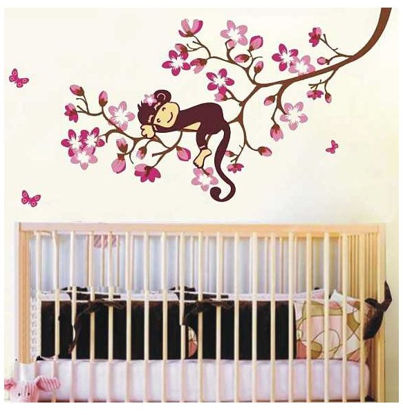 children room money flower wall sticker