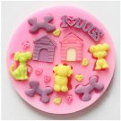 love dogs silicone mold 623