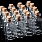 50Pcs 18x40mm Mini Clear Glass Bottles