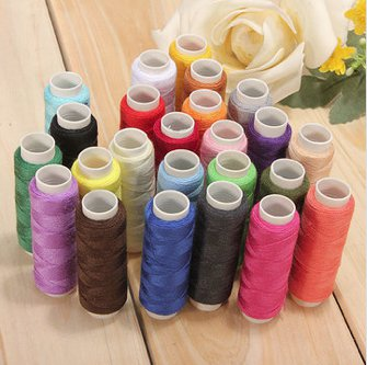 24 pieces sewing thread mixed