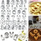 37pcs Alphabet letter and number cookie cutter