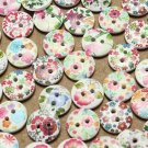 100pcs 2 holes wooden buttons