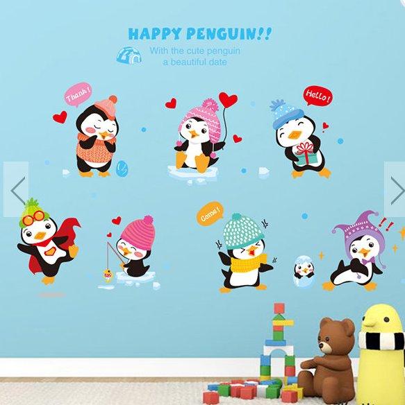 animals penguin children home wall sticker