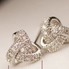 925 silver plated zircon earring