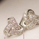 925 silver plated zircon earring